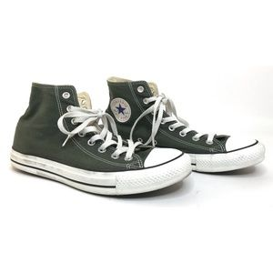 Green All Star Lace Up High Top Sneaker Shoe